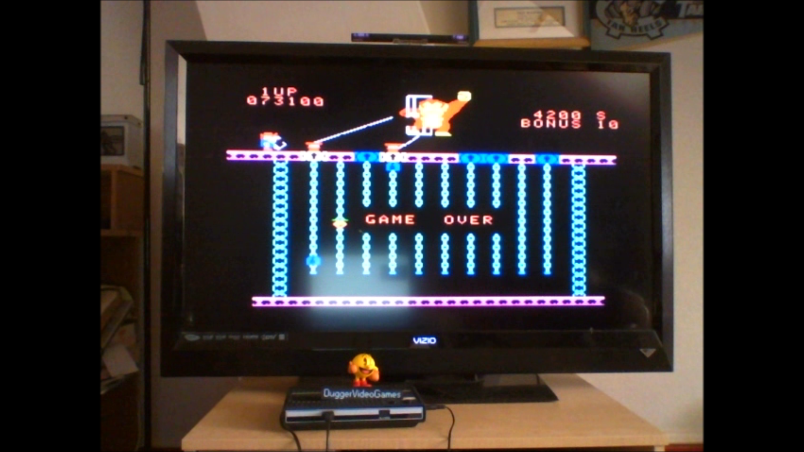 DuggerVideoGames: Donkey Kong Jr [Skill 4] (Colecovision Emulated) 73,100 points on 2016-09-22 14:30:40