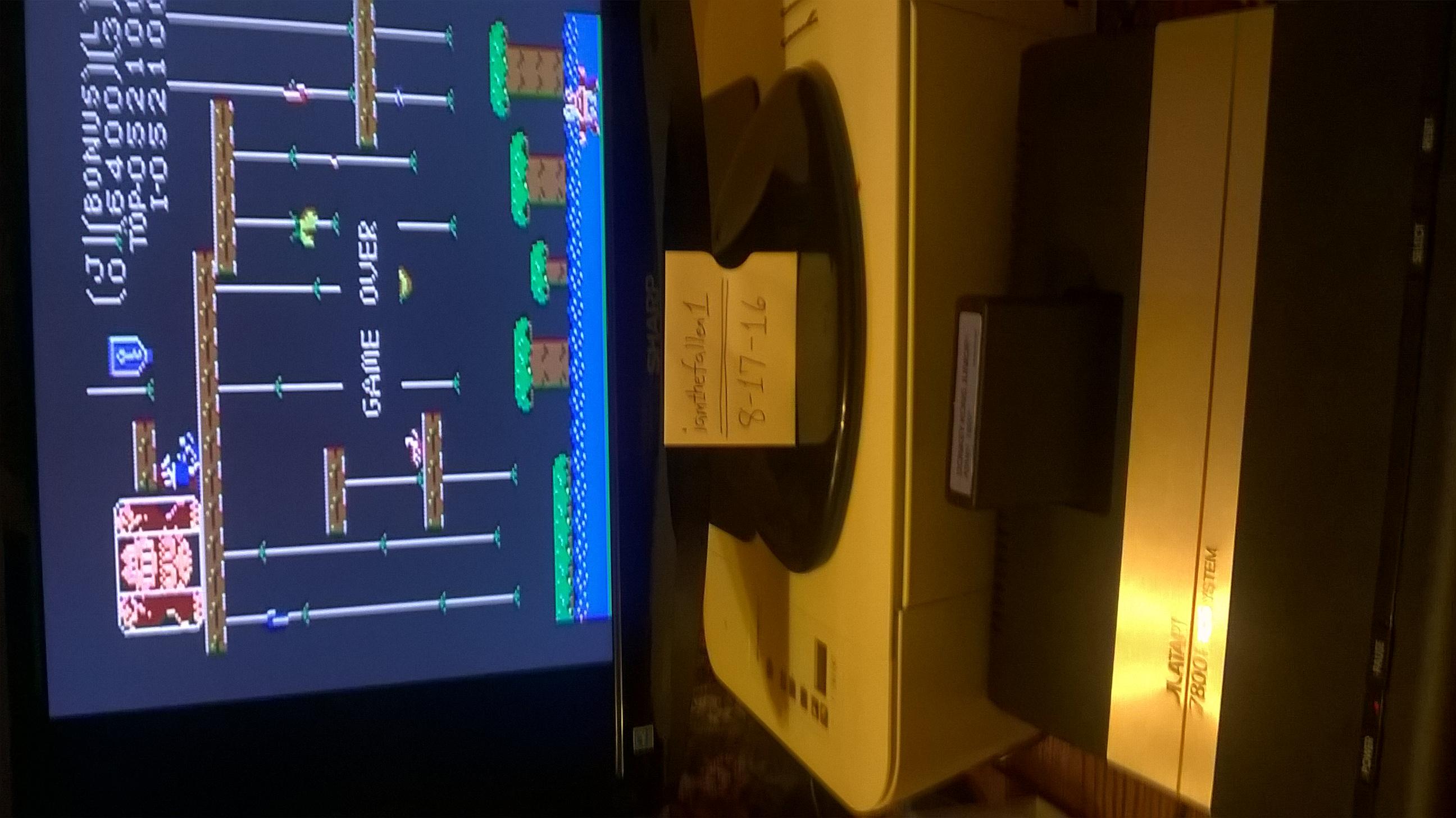 iamthefallen1: Donkey Kong Jr: Standard (Atari 7800) 52,100 points on 2016-08-17 20:28:37