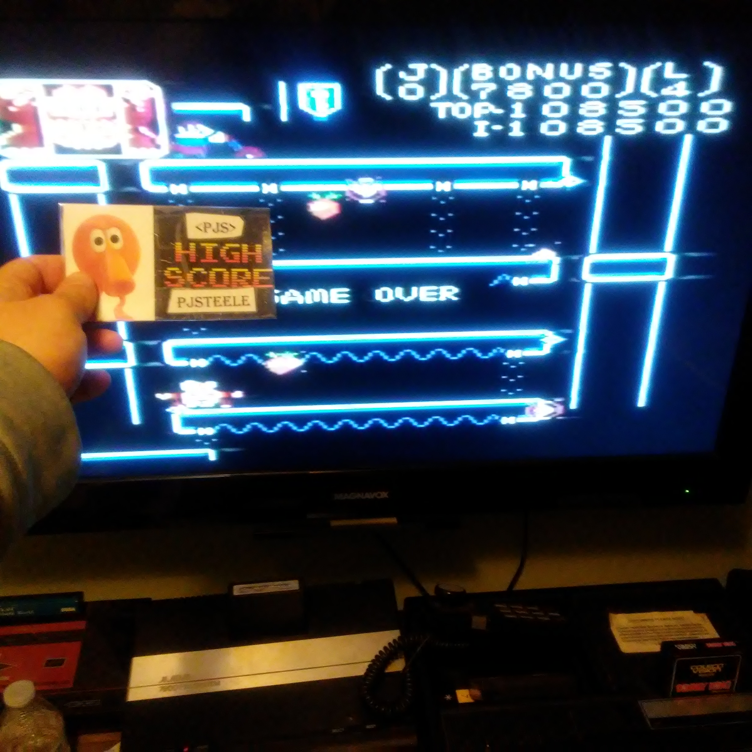 Donkey Kong Jr: Standard 108,500 points