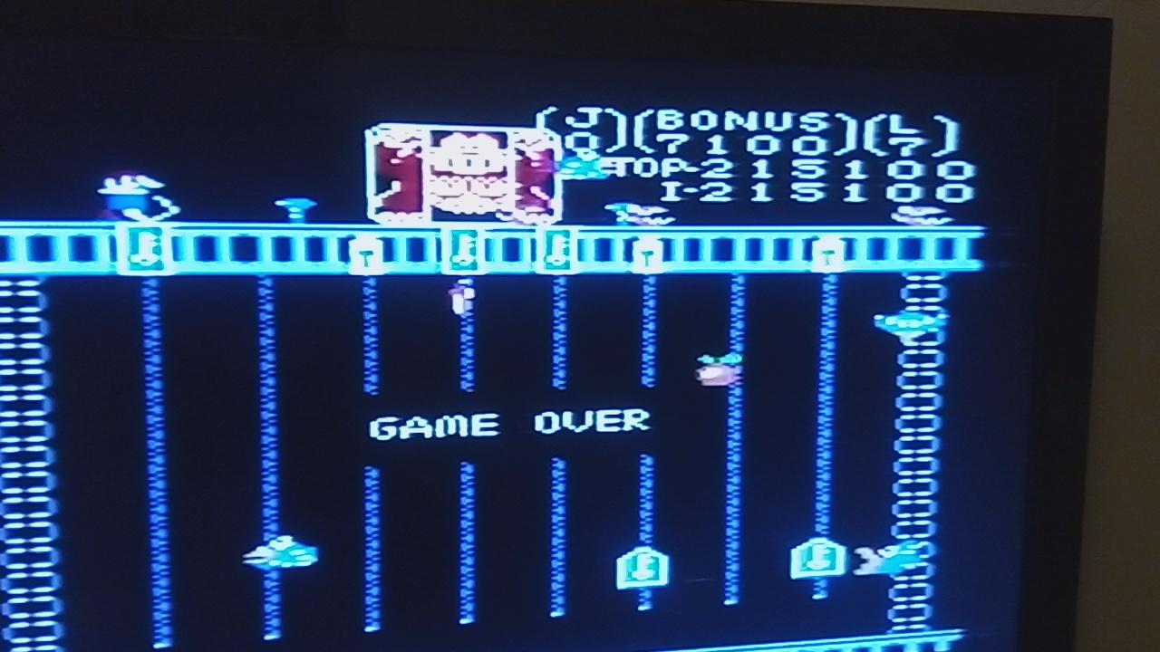 Pjsteele: Donkey Kong Jr: Standard (Atari 7800) 215,100 points on 2019-11-24 19:56:00