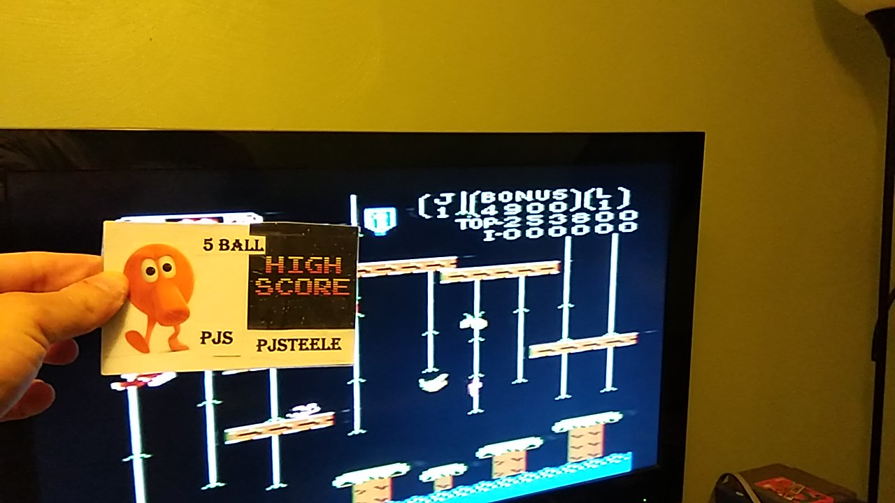 Pjsteele: Donkey Kong Jr: Standard (Atari 7800) 253,800 points on 2020-01-03 22:05:37