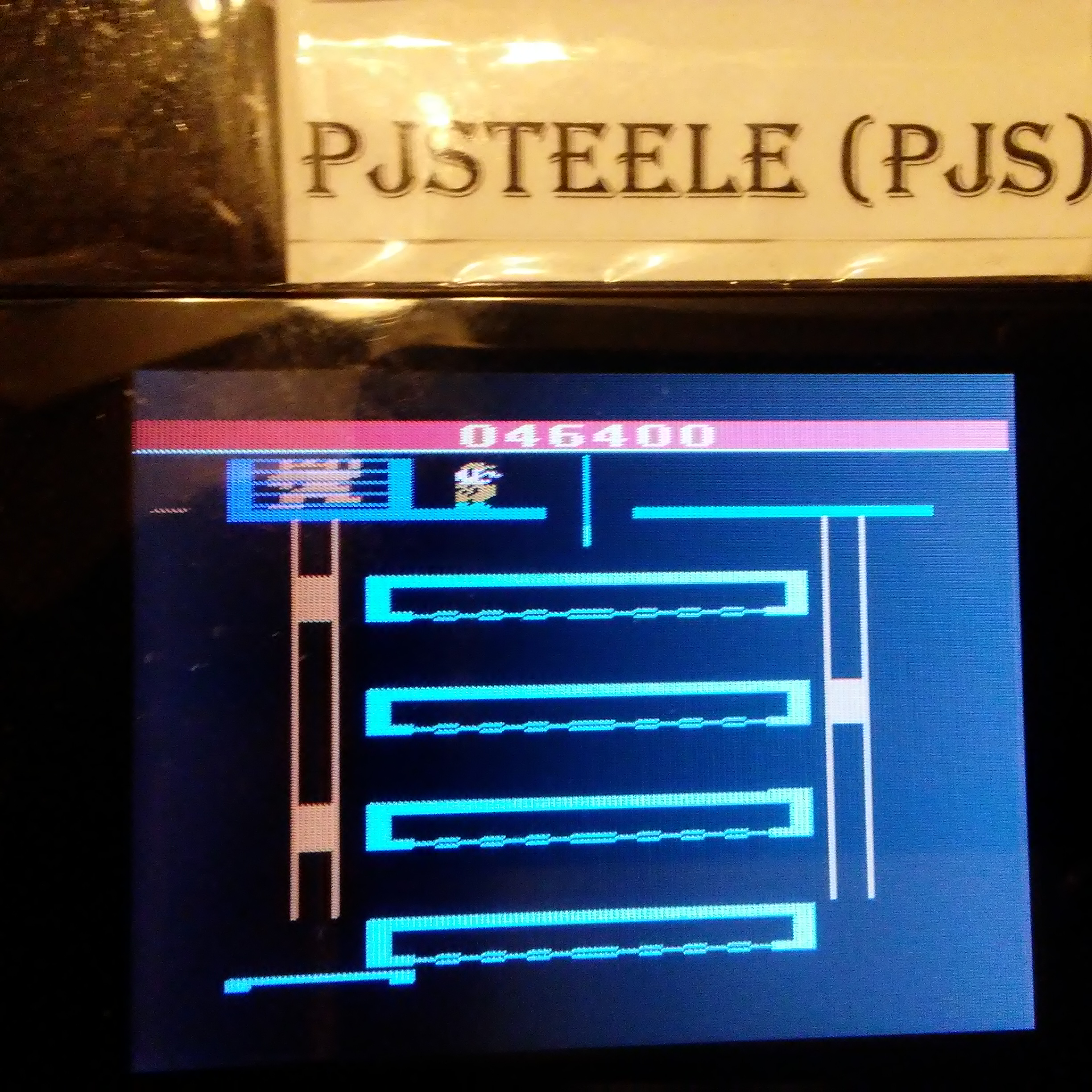 Pjsteele: Donkey Kong Junior (Atari 2600 Emulated) 46,400 points on 2018-02-16 19:57:26
