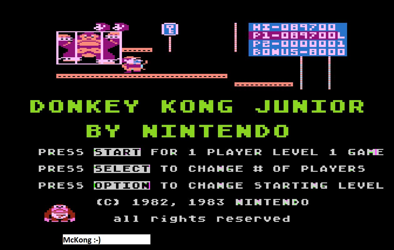 Donkey Kong Junior 89,700 points