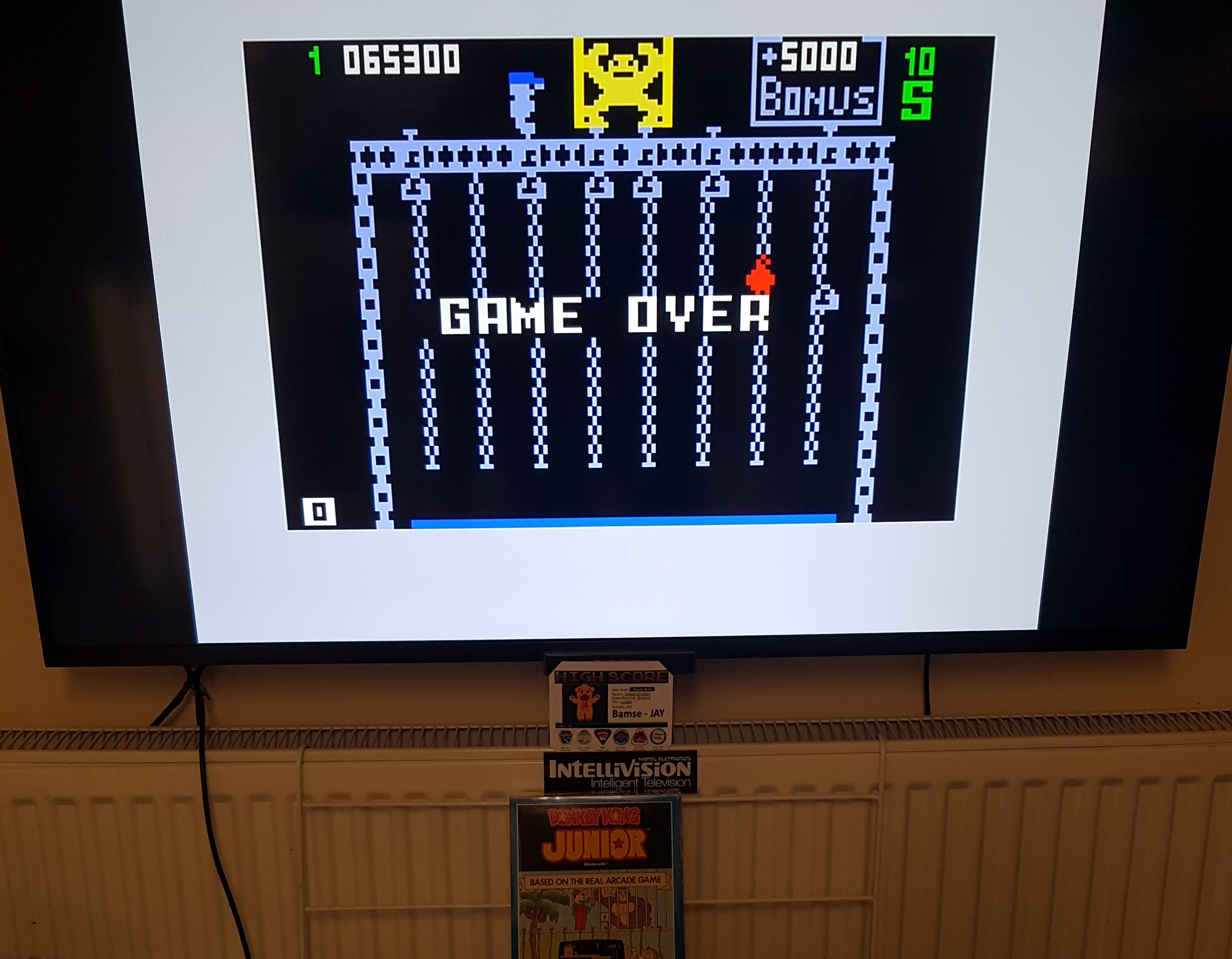 Bamse: Donkey Kong Junior (Intellivision) 65,300 points on 2019-11-20 15:16:27