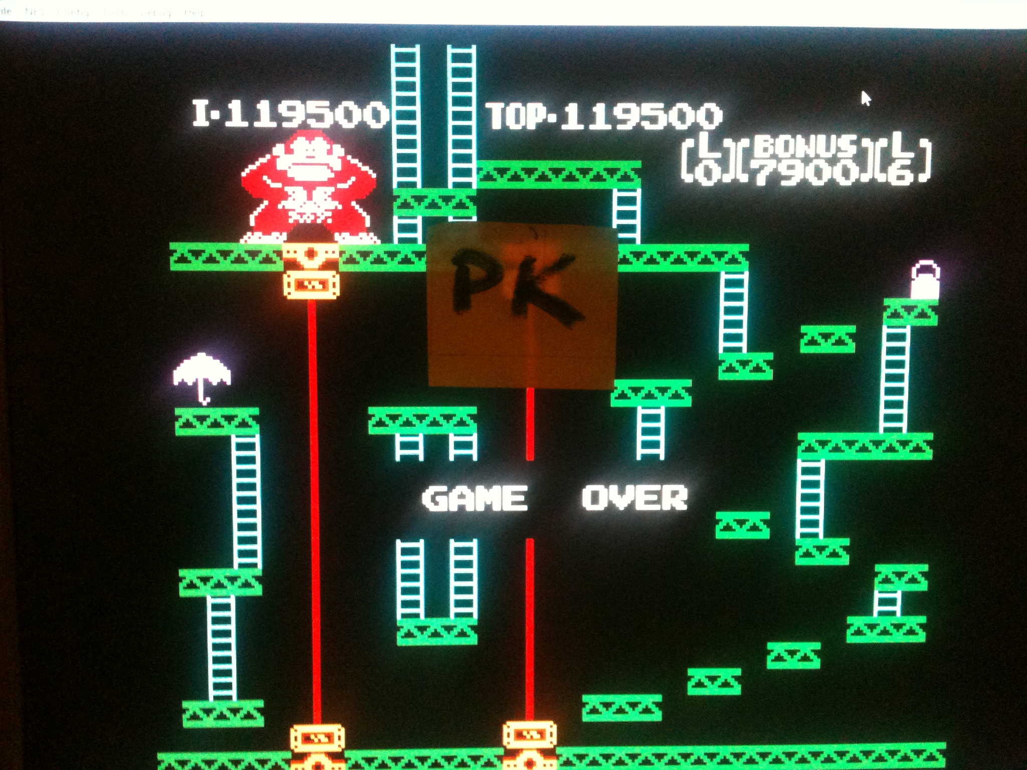 kernzy: Donkey Kong: Luigi Edition [Game A] (NES/Famicom Emulated) 119,500 points on 2015-11-21 08:45:13