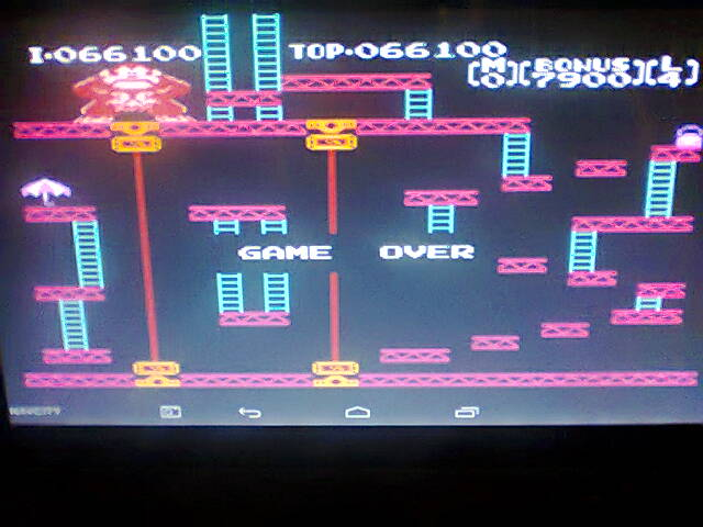 Donkey Kong 66,100 points