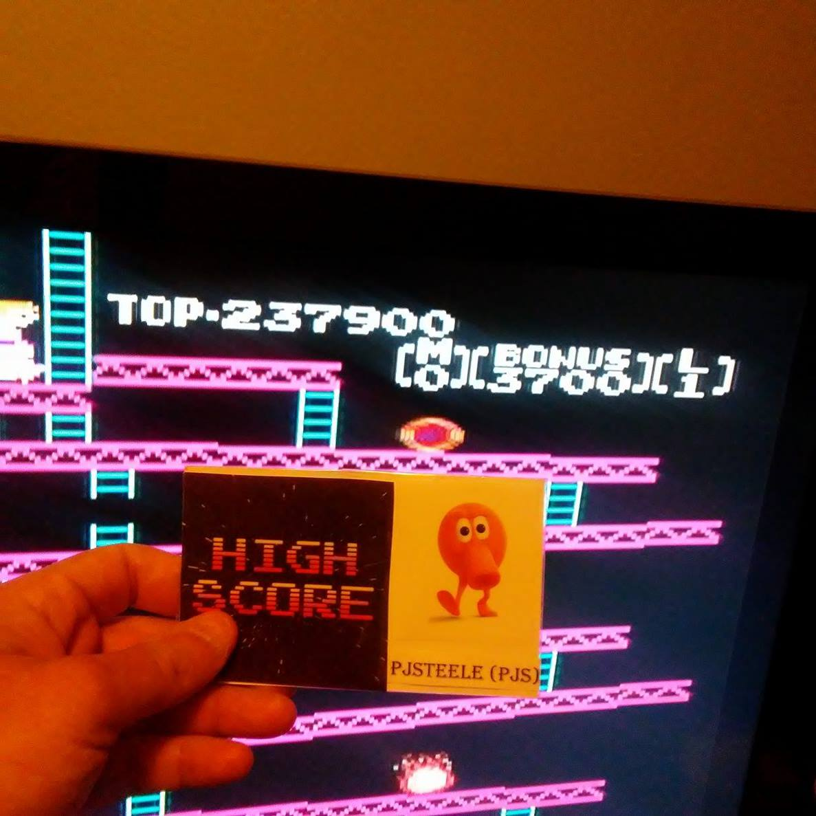 Pjsteele: Donkey Kong (NES/Famicom Emulated) 237,900 points on 2017-05-06 12:56:50