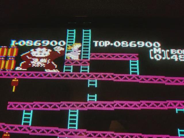 JES: Donkey Kong (NES/Famicom Emulated) 86,900 points on 2017-11-19 00:43:26