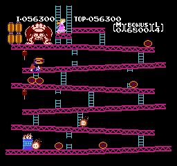 Mantalow: Donkey Kong (NES/Famicom Emulated) 56,300 points on 2018-02-07 15:40:39