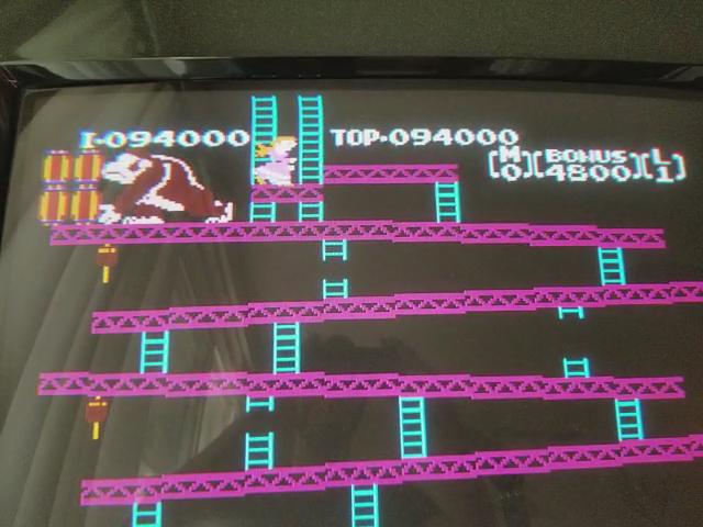 JES: Donkey Kong (NES/Famicom Emulated) 94,000 points on 2018-03-19 19:49:11
