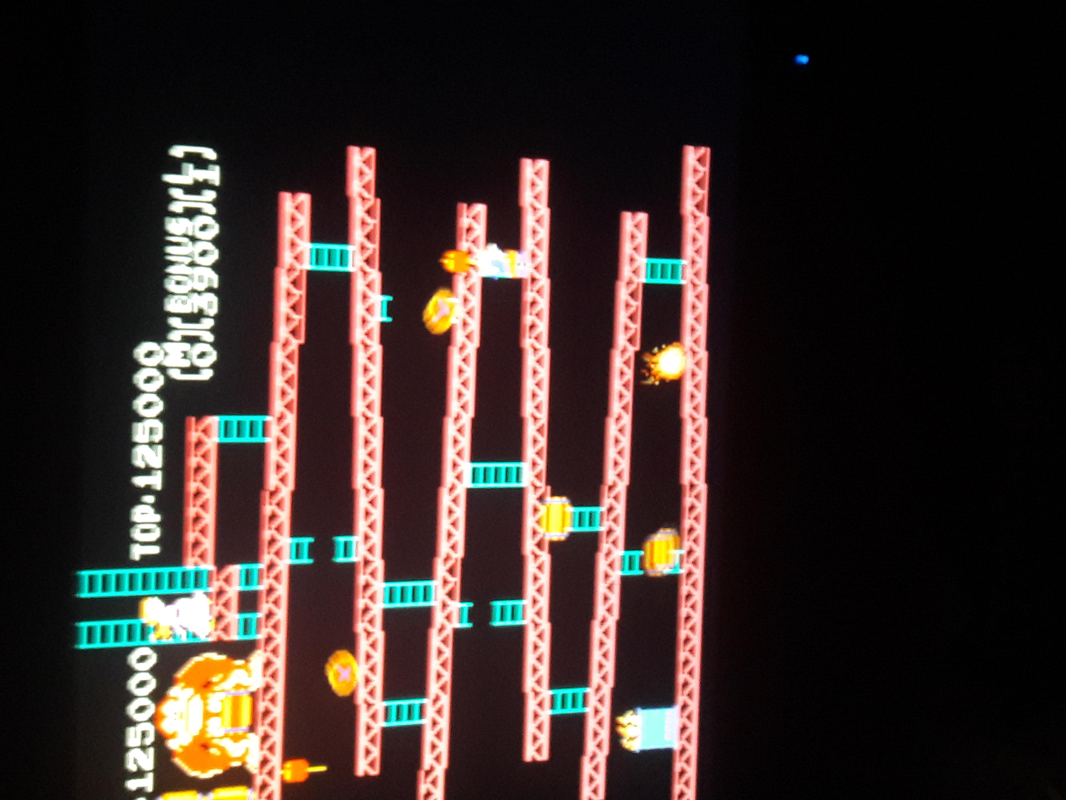 Zentheretrogamer15: Donkey Kong (NES/Famicom Emulated) 125,000 points on 2018-09-21 20:22:32