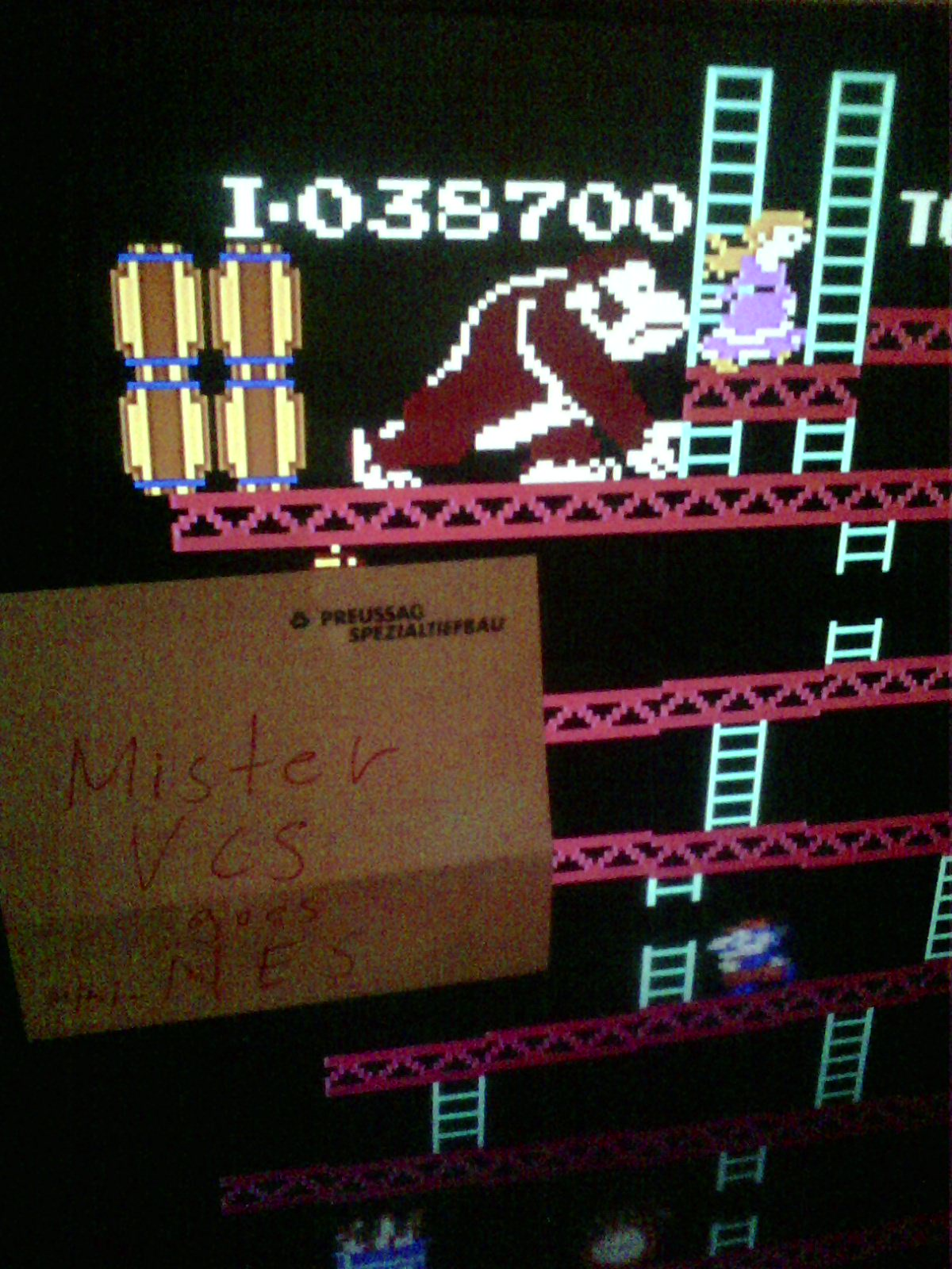 MisterVCS: Donkey Kong (NES/Famicom Emulated) 38,700 points on 2018-09-22 12:31:27