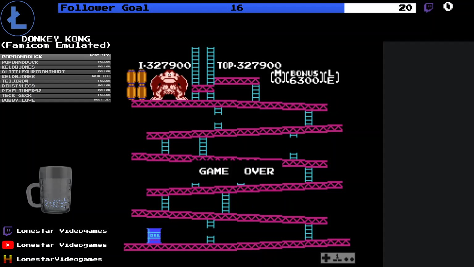 LonestarVideogames: Donkey Kong (NES/Famicom Emulated) 327,900 points on 2020-04-03 19:52:42