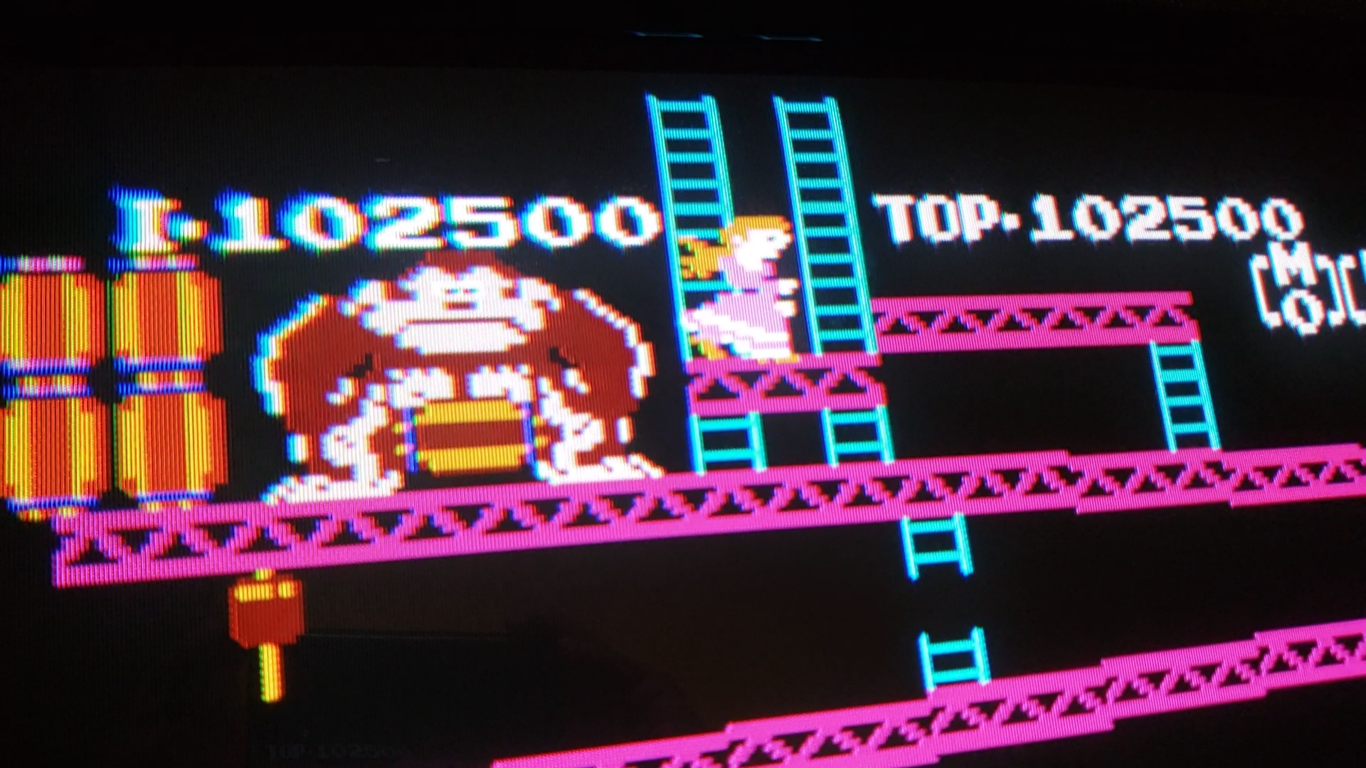 JES: Donkey Kong (NES/Famicom Emulated) 102,500 points on 2020-06-19 01:09:49