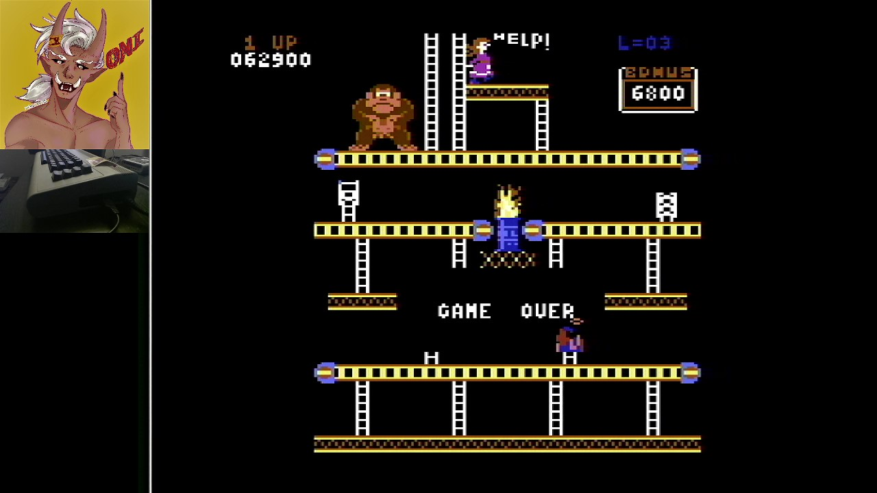 OniDensetsu: Donkey Kong: Ocean (Commodore 64) 62,900 points on 2021-02-05 02:50:35