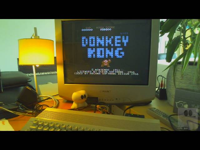 GTibel: Donkey Kong: Ocean (Commodore 64) 59,300 points on 2019-03-26 08:57:38