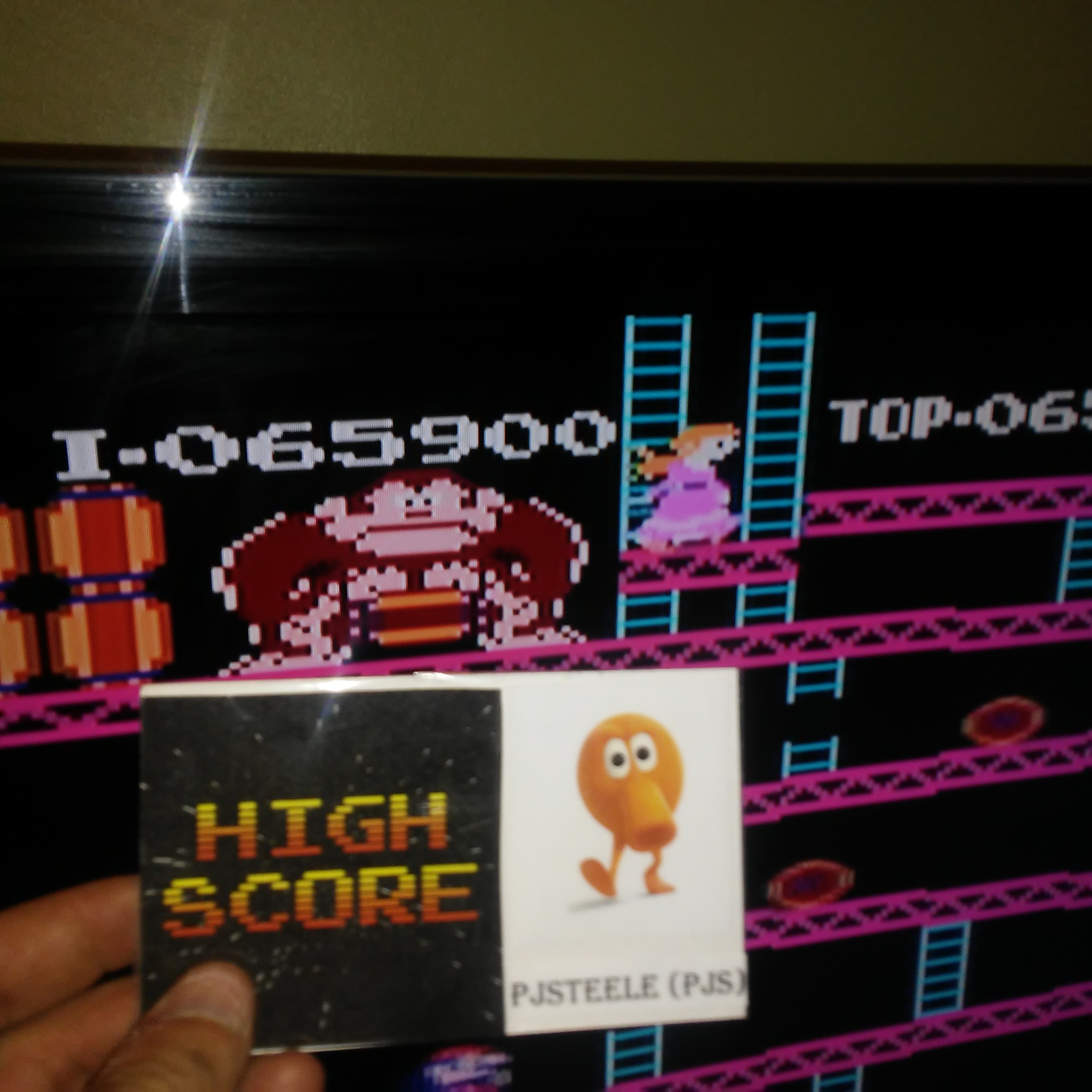 Donkey Kong Original Edition [Game A] 65,900 points