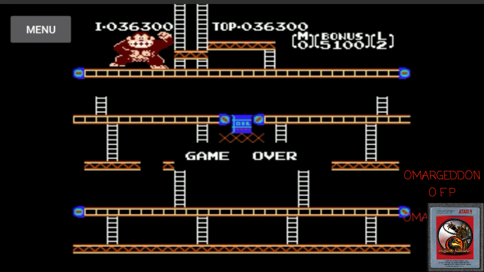 omargeddon: Donkey Kong Original Edition [Game A] (NES/Famicom Emulated) 36,300 points on 2017-05-13 10:56:25