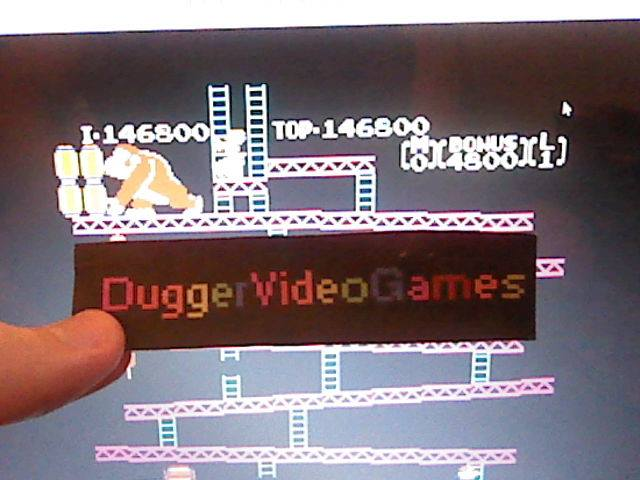 DuggerVideoGames: Donkey Kong Original Edition [Game A] (NES/Famicom Emulated) 146,800 points on 2018-01-26 10:56:20