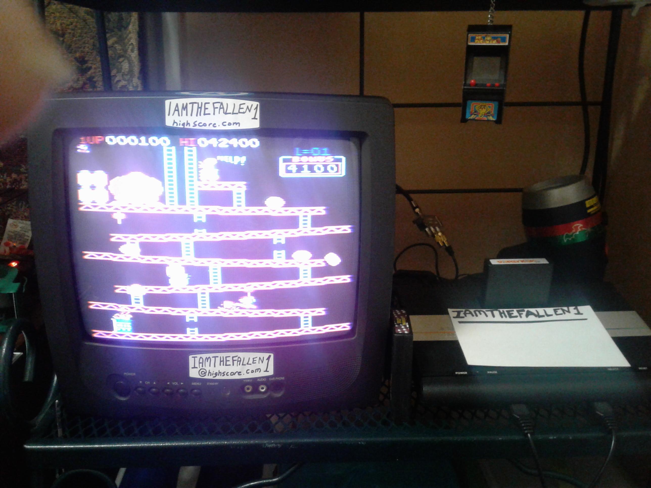 iamthefallen1: Donkey Kong PK [Arcade] [Japan Order] [Level 1 Start] (Atari 7800) 42,400 points on 2018-03-18 07:14:18