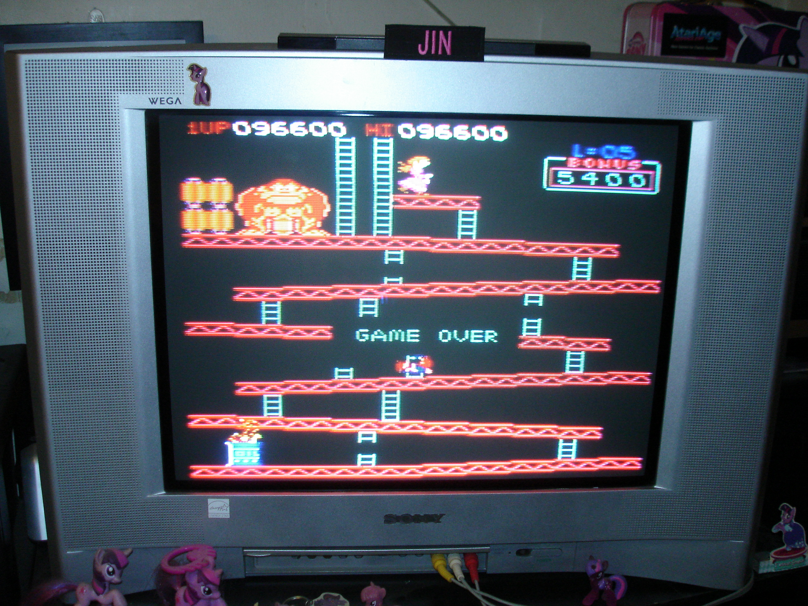 Donkey Kong PK [Start Level: One] [Screen Order: US] [Difficulty: Arcade] 96,600 points