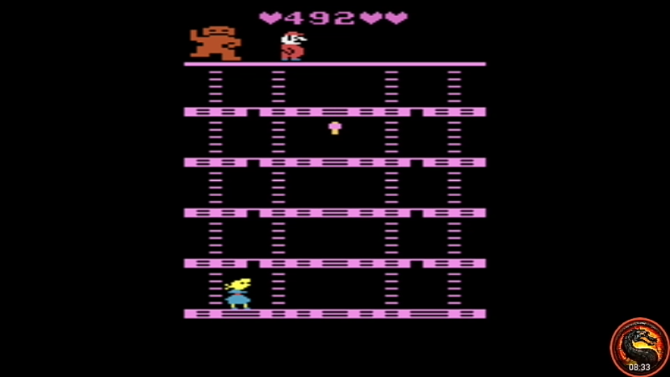 omargeddon: Donkey Kong: Pauline Edition (Atari 2600 Emulated Expert/A Mode) 492 points on 2020-08-16 22:47:59