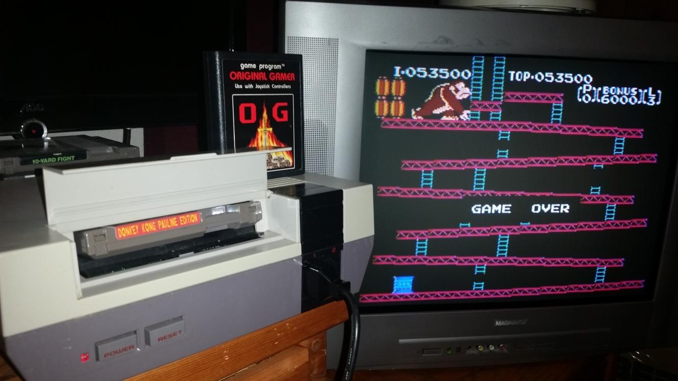 OriginalGamer: Donkey Kong: Pauline Edition (NES/Famicom) 53,500 points on 2016-06-26 22:31:40