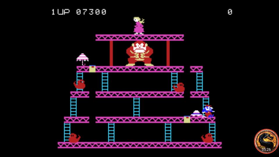 omargeddon: Donkey Kong: Skill 2 (Colecovision Emulated) 7,300 points on 2019-04-29 00:47:10