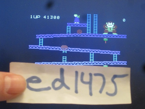 ed1475: Donkey Kong: Skill 2 (Colecovision Emulated) 41,300 points on 2020-01-19 13:07:11