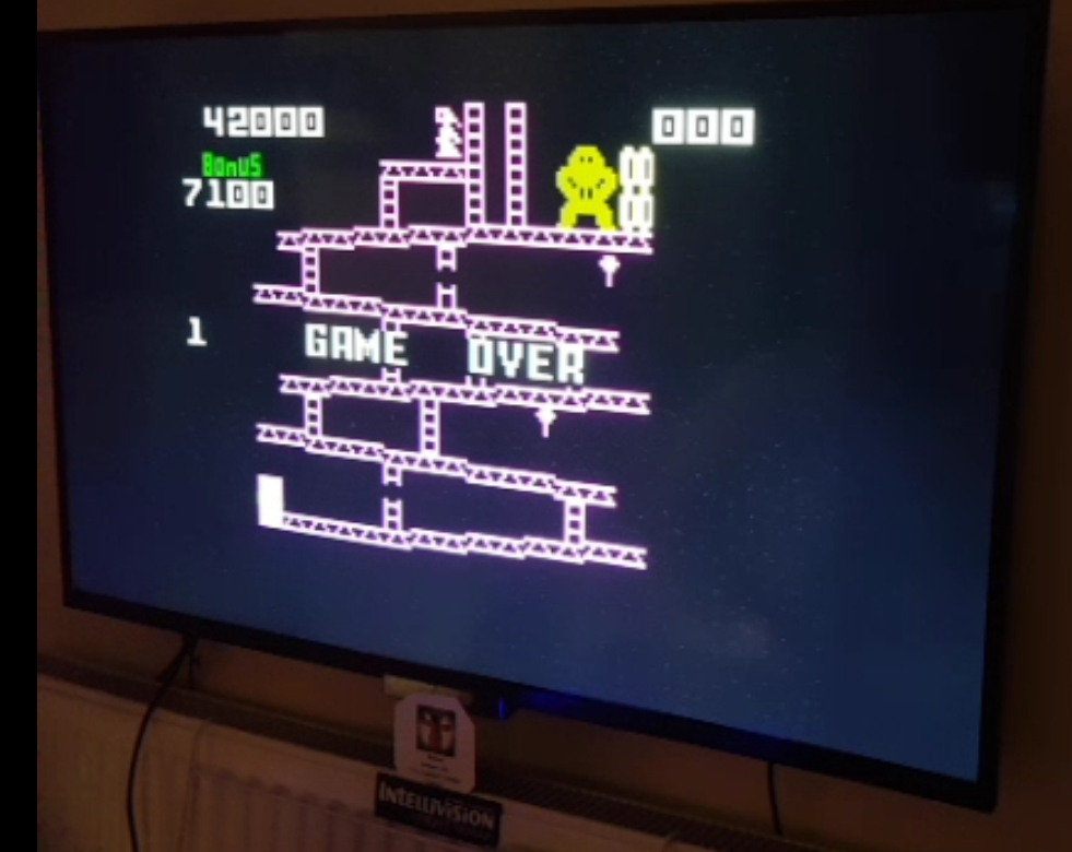 Bamse: Donkey Kong: Skill 2 (Intellivision) 42,000 points on 2019-04-04 14:07:31