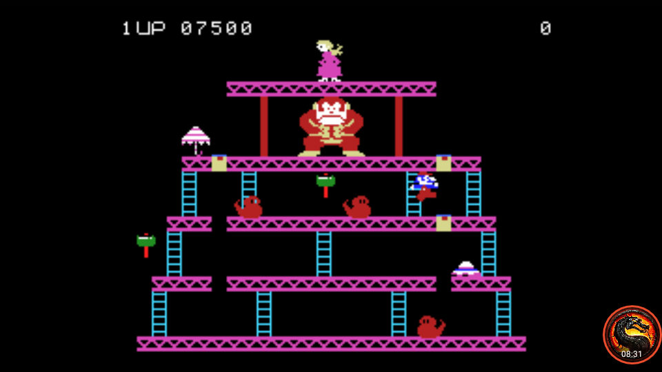 omargeddon: Donkey Kong: Skill 3 (Colecovision Emulated) 7,500 points on 2020-06-28 20:53:52