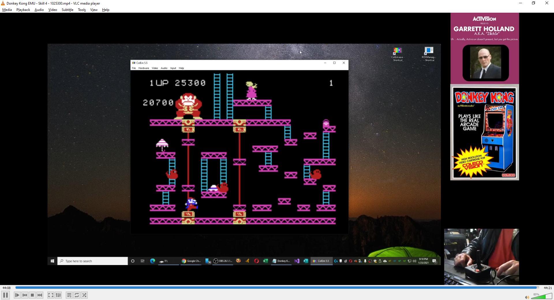 ZilchSr: Donkey Kong: Skill 4 (Colecovision Emulated) 1,025,300 points on 2021-02-13 17:50:16