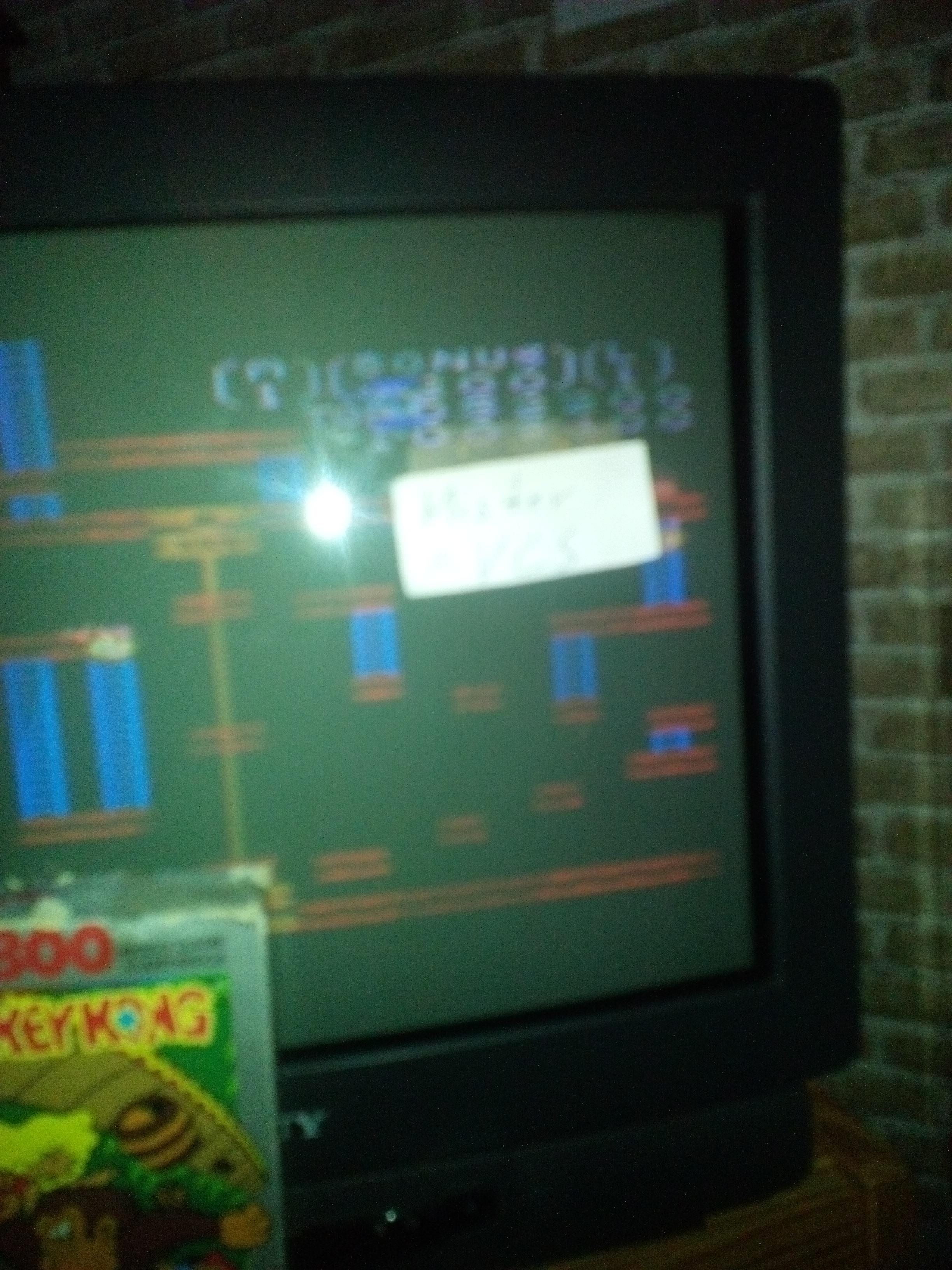 MisterVCS: Donkey Kong: Standard (Atari 7800) 52,200 points on 2017-11-05 07:38:09