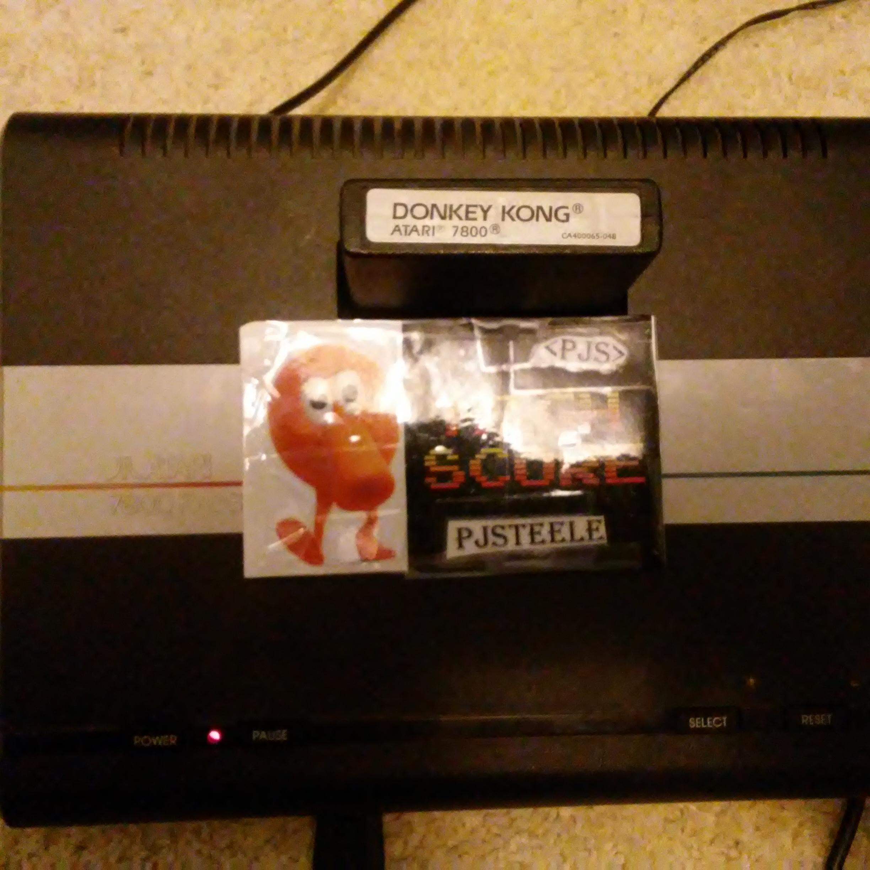 Pjsteele: Donkey Kong: Standard (Atari 7800) 132,300 points on 2017-12-10 11:47:36