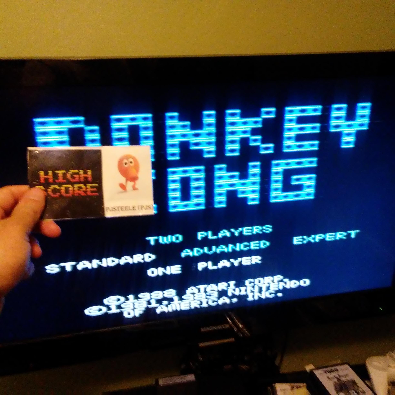 Pjsteele: Donkey Kong: Standard (Atari 7800) 457,500 points on 2018-05-16 21:06:33