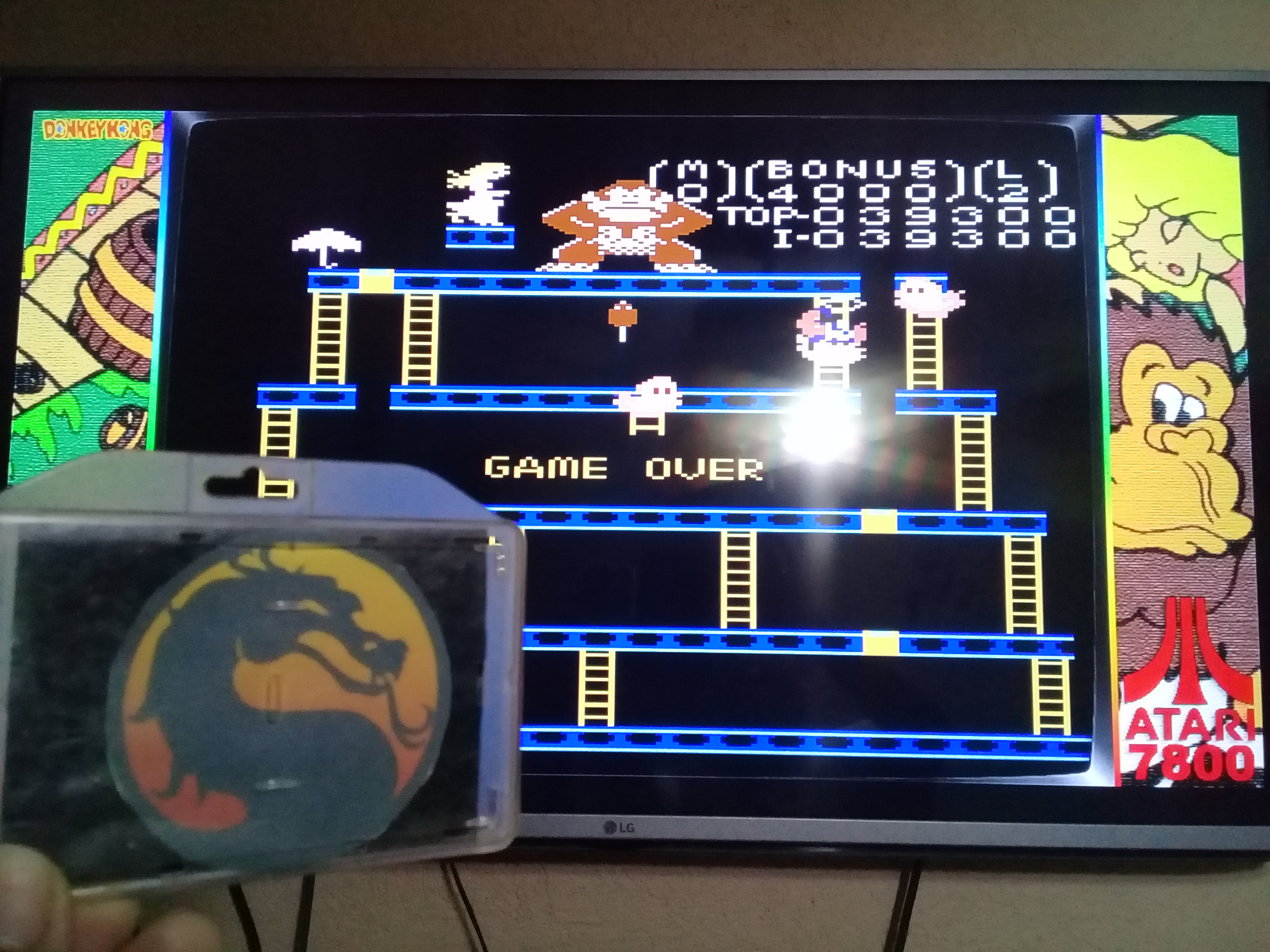 omargeddon: Donkey Kong: Standard (Atari 7800 Emulated) 39,300 points on 2020-06-20 19:45:26