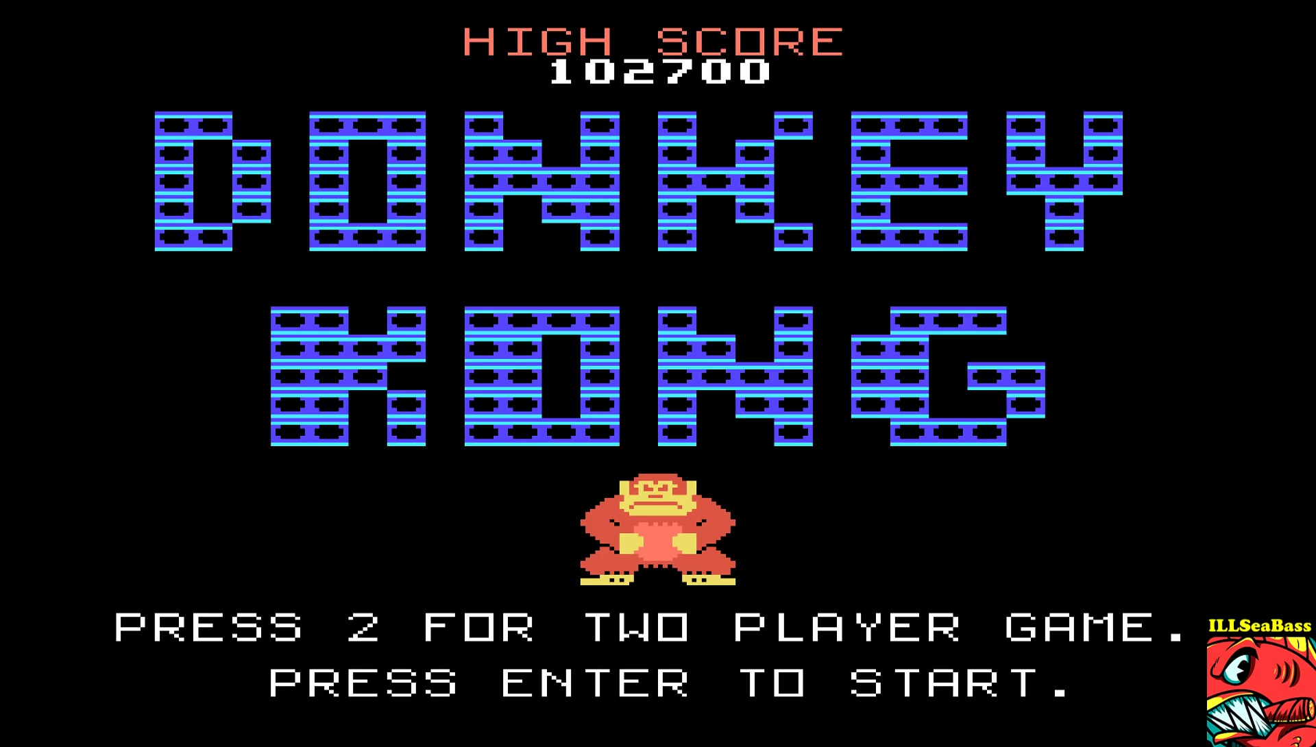 ILLSeaBass: Donkey Kong (TI 99/4A Emulated) 102,700 points on 2017-05-05 01:53:07