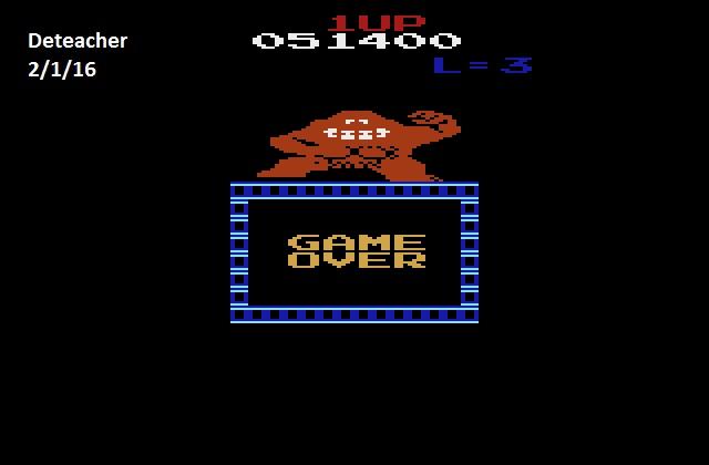 Deteacher: Donkey Kong VCS (Atari 2600 Emulated) 51,400 points on 2016-02-01 18:59:54