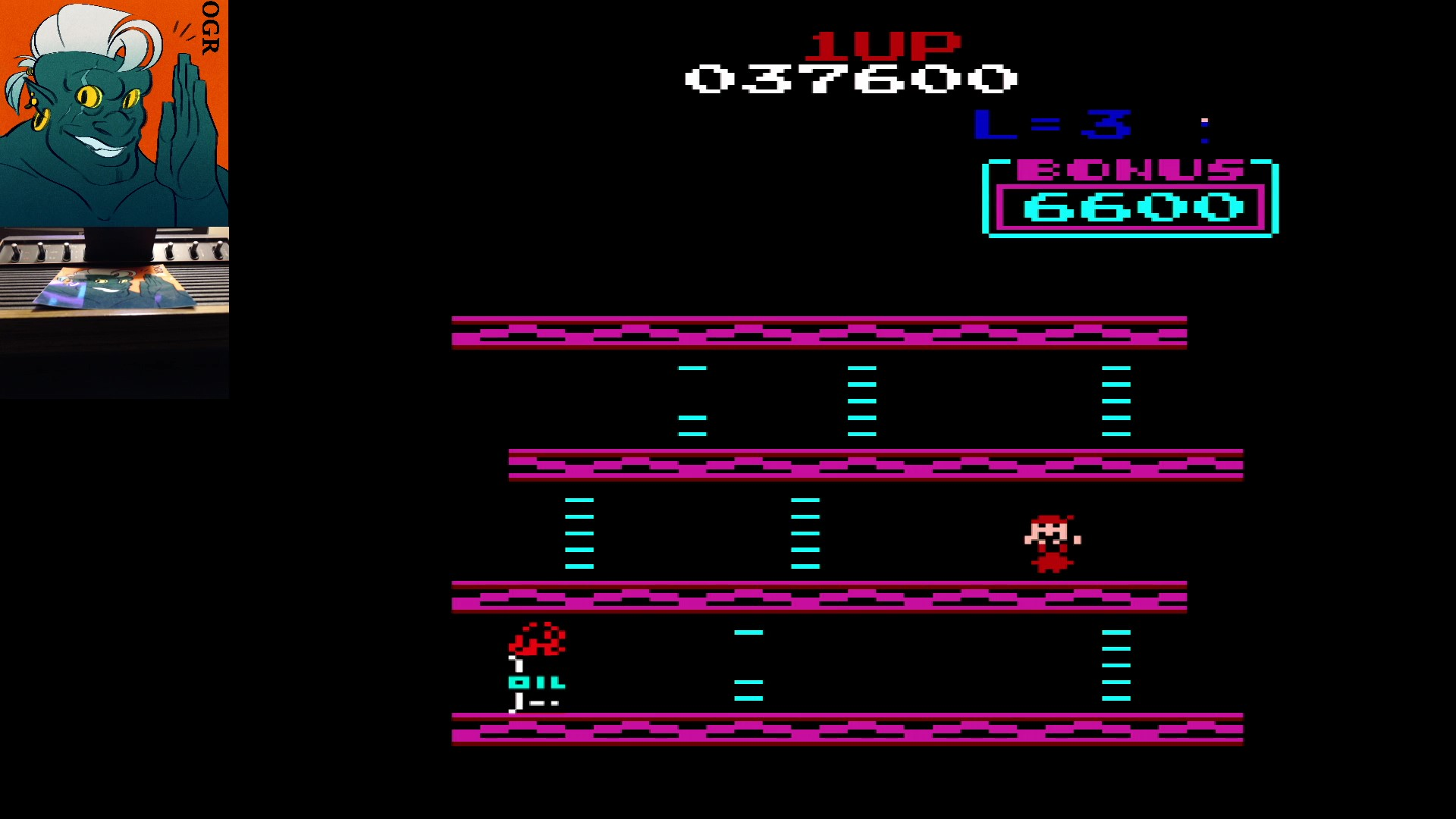 AwesomeOgre: Donkey Kong VCS (Atari 2600) 37,600 points on 2020-03-11 06:14:49