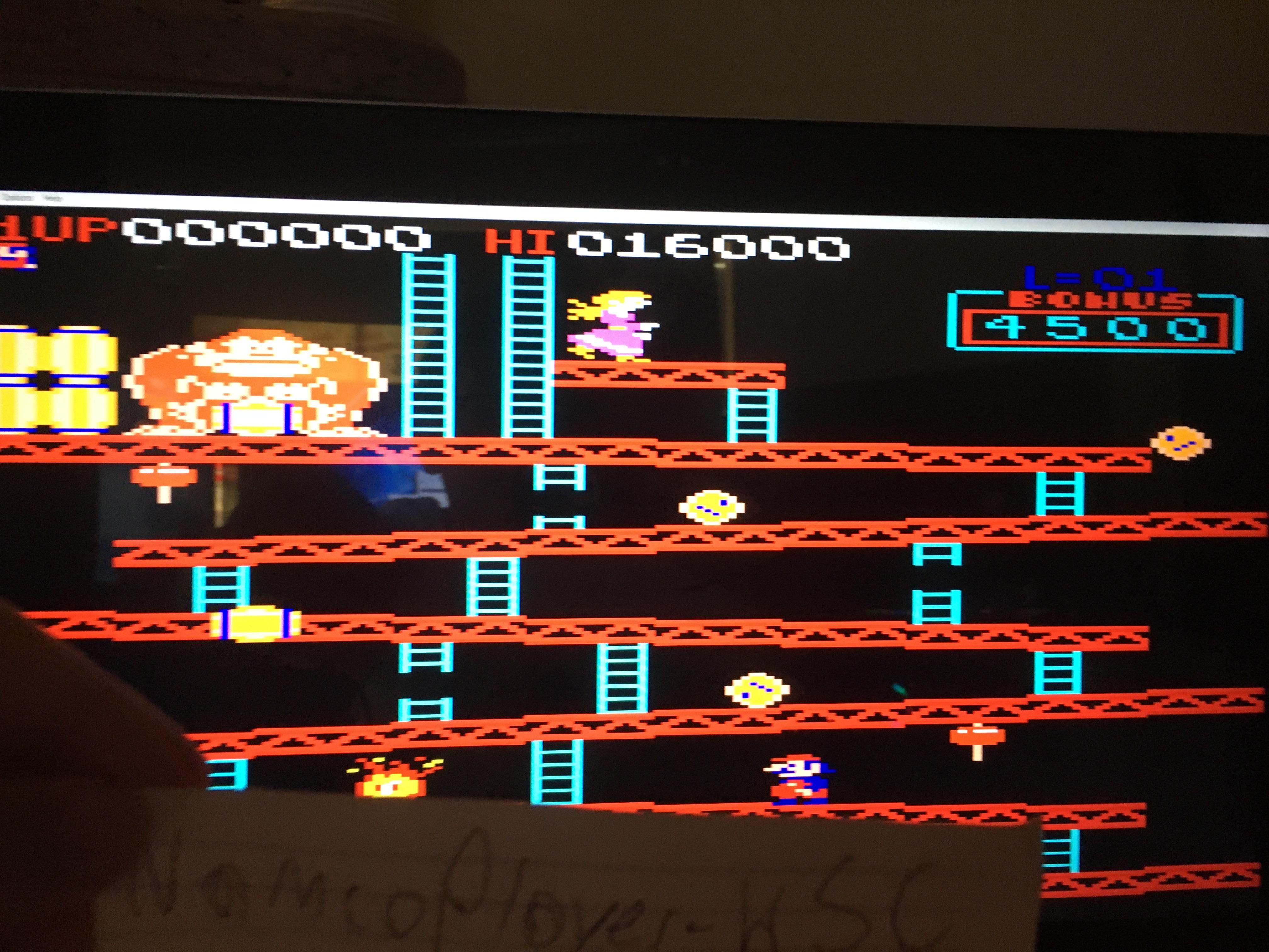 NamcoPlayer: Donkey Kong XM: Japan/Arcade [Level 1 Start] (Atari 7800 Emulated) 16,000 points on 2020-10-06 16:21:35