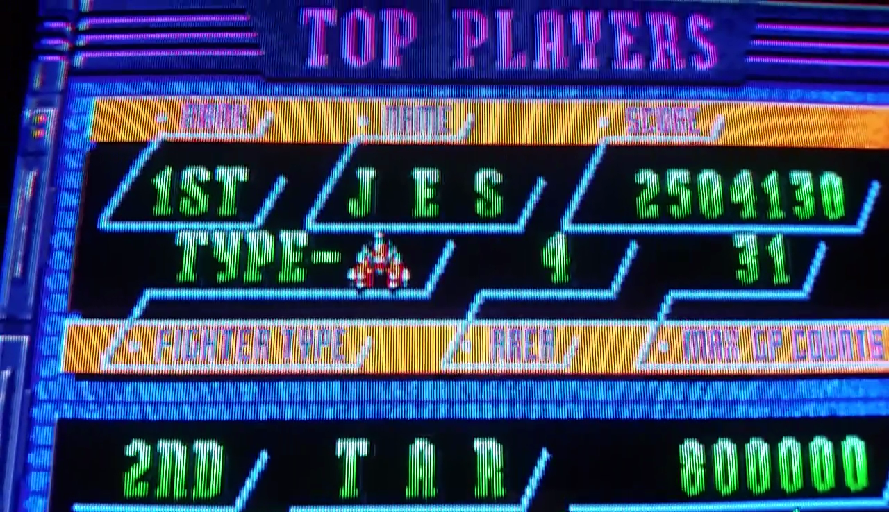 JES: Donpachi: U.S. version (Arcade Emulated / M.A.M.E.) 2,504,130 points on 2017-04-07 02:32:51