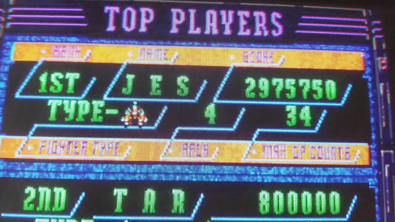 JES: Donpachi: U.S. version (Arcade Emulated / M.A.M.E.) 2,975,750 points on 2017-12-29 15:13:42