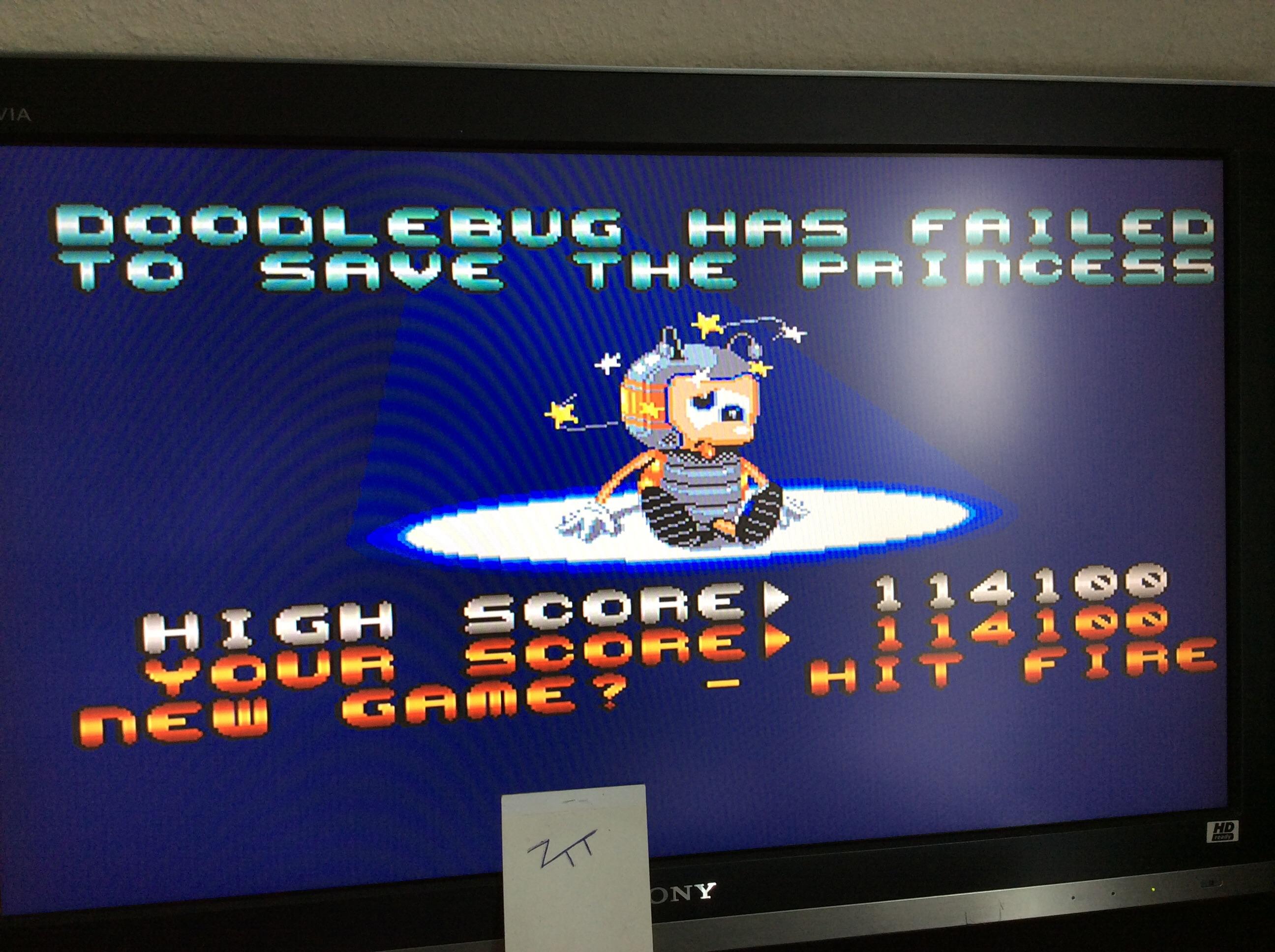 Frankie: Doodlebug: Bug Bash 2 (Amiga) 114,100 points on 2016-08-28 03:53:06