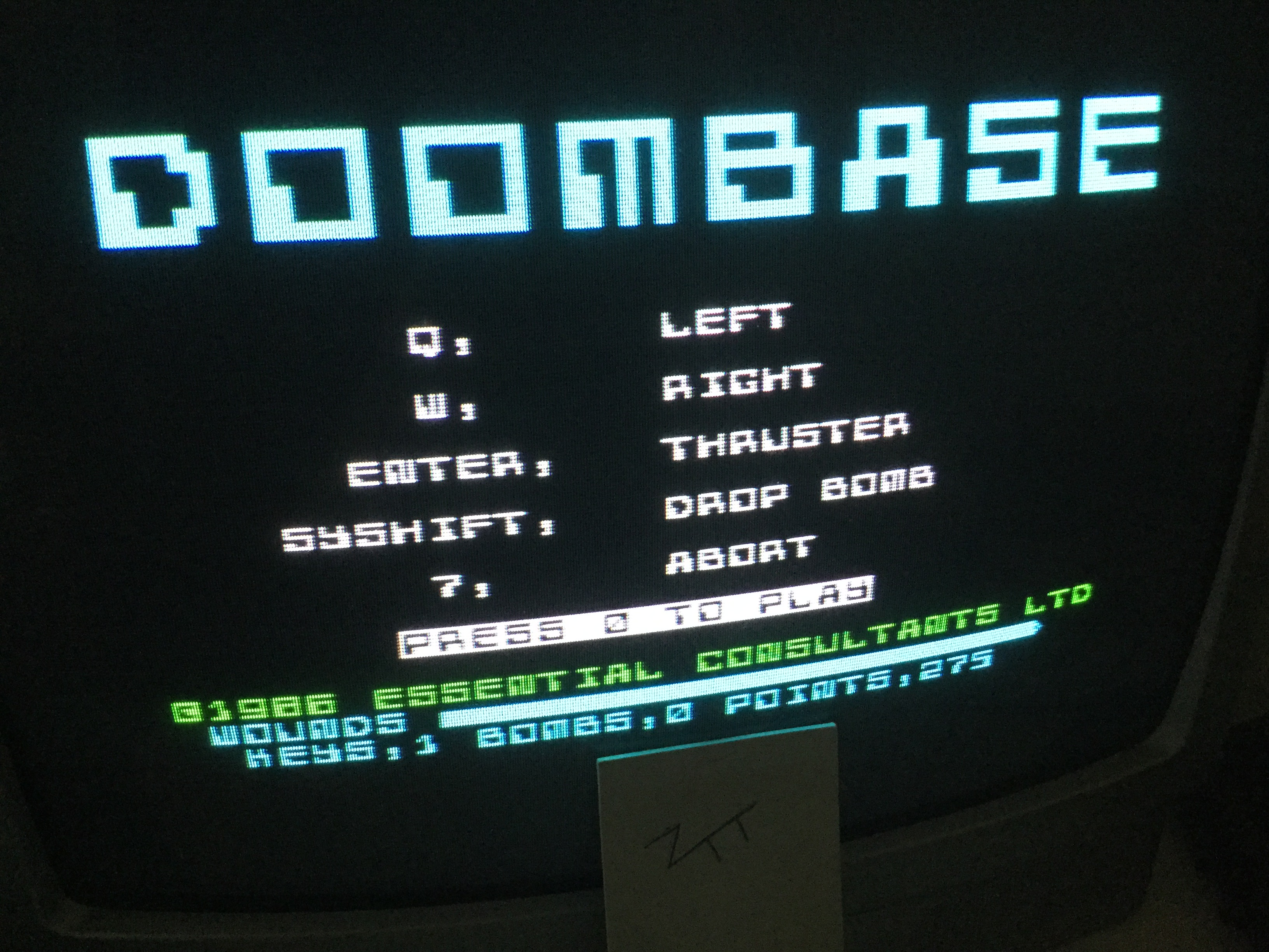 Frankie: Doombase (ZX Spectrum) 275 points on 2019-07-22 12:37:05