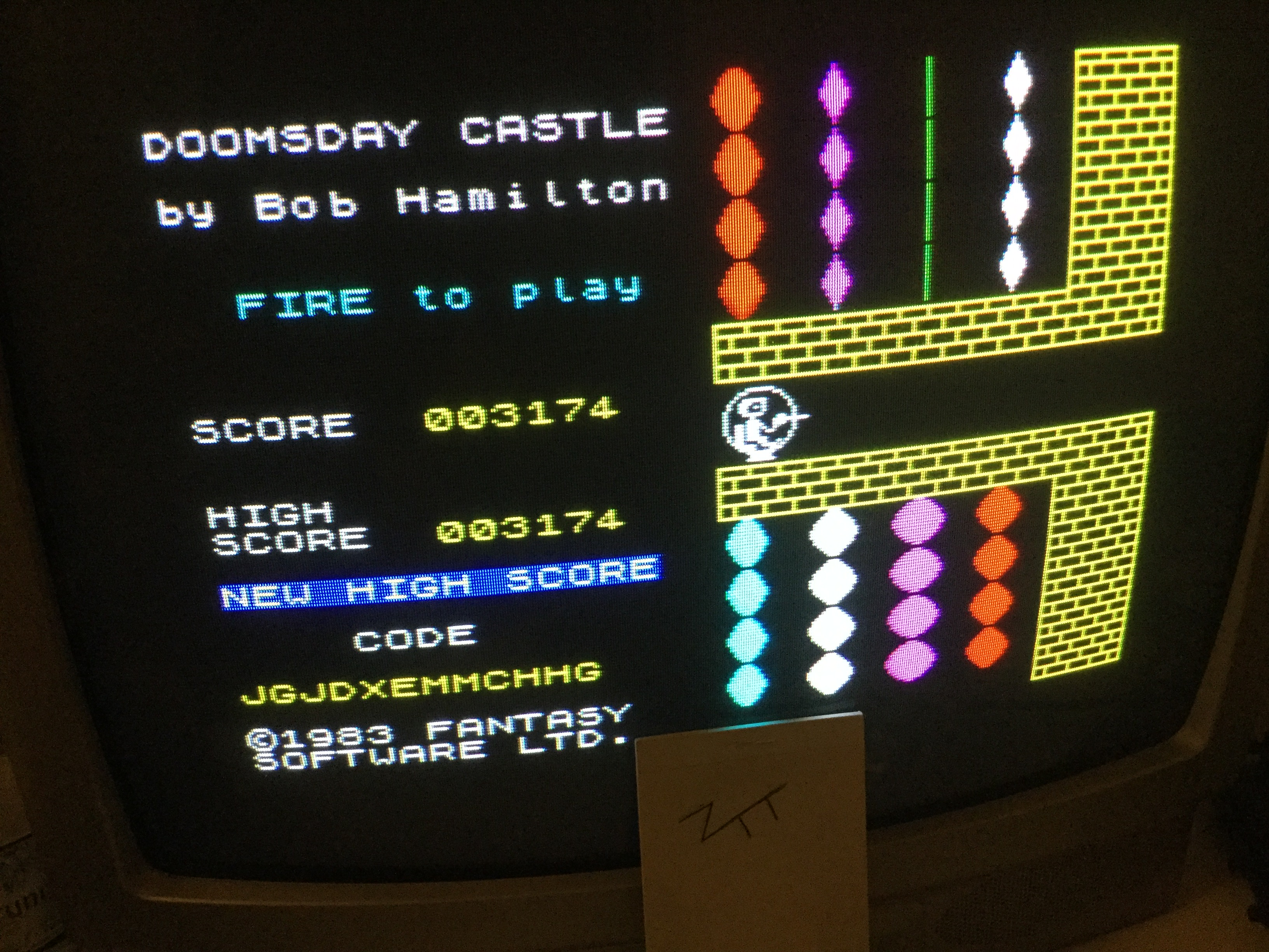 Frankie: Doomsday Castle (ZX Spectrum) 3,174 points on 2019-07-24 15:25:31