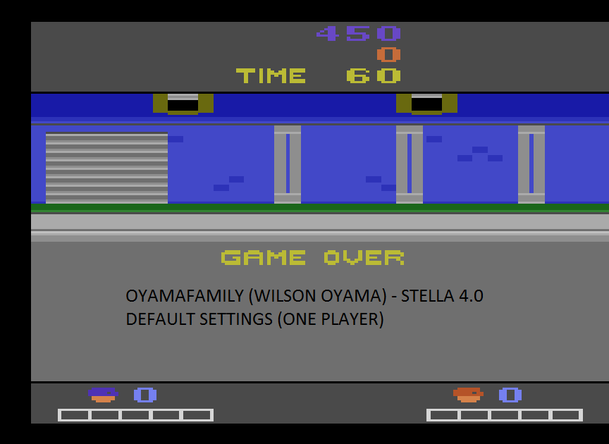 oyamafamily: Double Dragon (Atari 2600 Emulated) 450 points on 2015-08-26 20:29:55