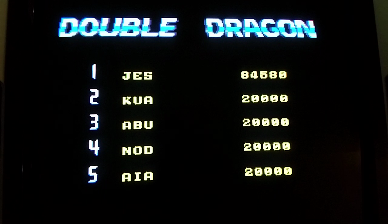 JES: Double Dragon II: The Revenge [ddragon2] (Arcade Emulated / M.A.M.E.) 84,580 points on 2017-03-28 10:08:59