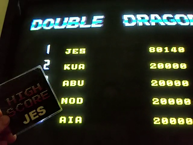 JES: Double Dragon II: The Revenge [ddragon2u] (Arcade Emulated / M.A.M.E.) 80,140 points on 2018-09-03 23:56:46