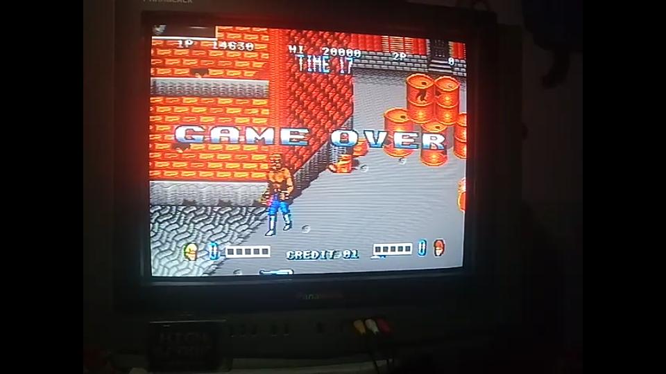 omargeddon: Double Dragon (Sega Genesis / MegaDrive) 14,630 points on 2019-06-16 19:59:54