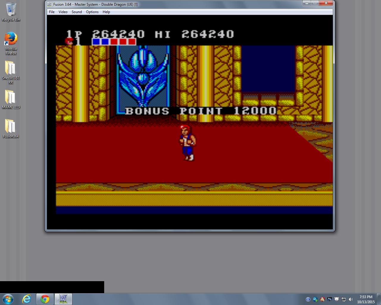 bubufubu: Double Dragon (Sega Master System Emulated) 264,240 points on 2015-10-13 22:09:57